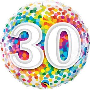 Foil Balloon 30th Birthday - Confetti