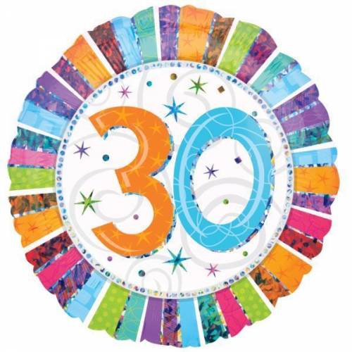 Foil Balloon 30th Birthday - Radiant