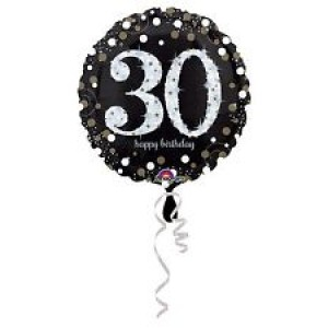 Foil Balloon 30th Birthday - Sparkling