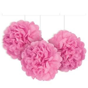 Tissue Paper Pom Poms - Mini Pink 3pk