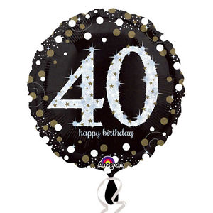 Foil Balloon 40th Birthday - Sparkling