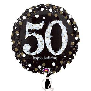 Foil Balloon 50th Birthday - Sparkling