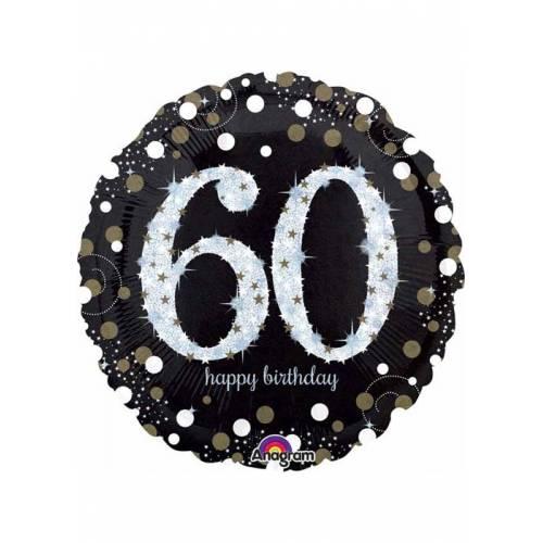 Foil Balloon 60th Birthday - Sparkles