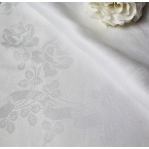 Linen Table Cloth, 135cm x 135cm White