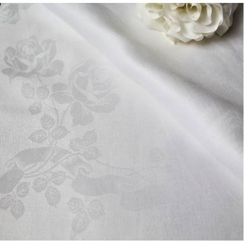 Linen Table Cloth, 228cm x 228cm White