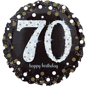 Foil Balloon 70th Birthday - Sparkles