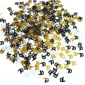 Confetti Scatters 70th Gold & Silver
