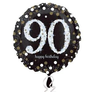 Foil Balloon 90th Birthday - Sparkling