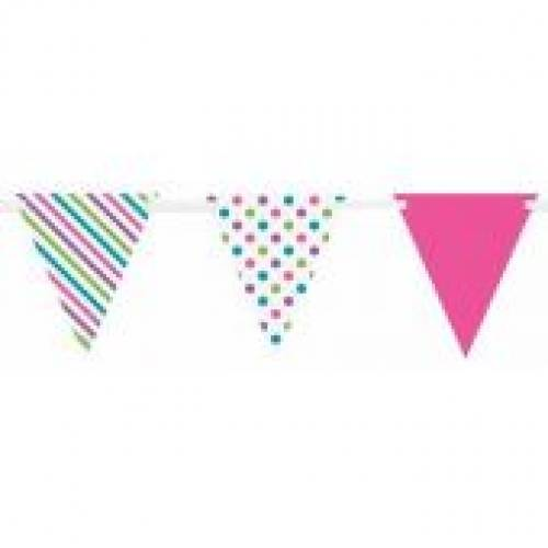 Bunting Flag Banner Bright Stripes & Dots