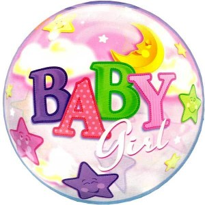 Bubble Balloon Baby Girl Stars & Moon