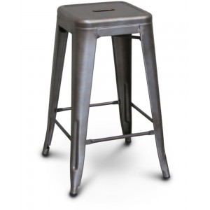 Rustic Bar Stool [Metal Seat]