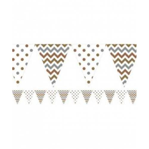 Mixed Metal Plastic Bunting 3.65m