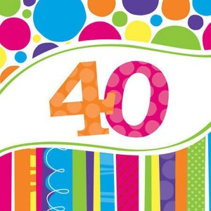 Napkins Bright & Bold 18pk - 40th