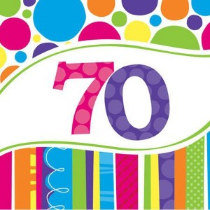 Napkins Bright & Bold 18pk - 70th