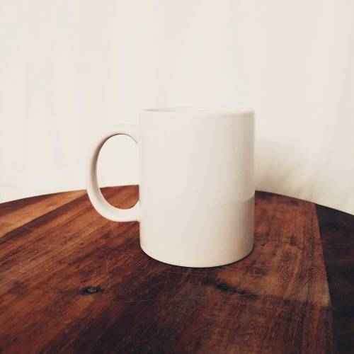 Coffee Mug, White Crockery 290ml