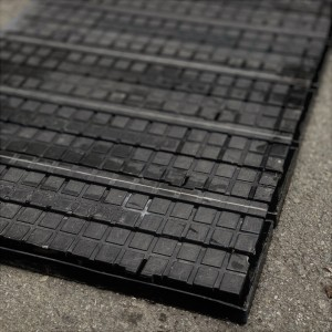 Plastic Interlock Flooring Tiles -  Black