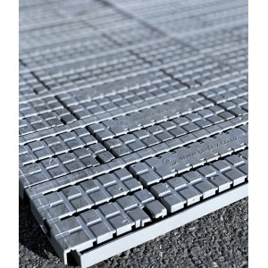 Plastic Interlock Flooring Tiles - Grey