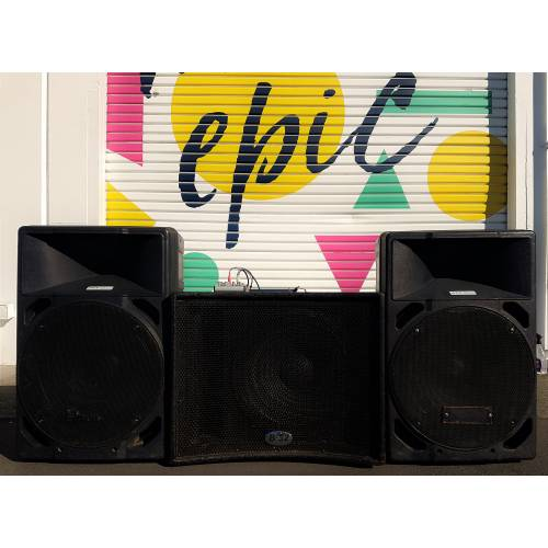 PA Sound System - Sub + 2x Speakers