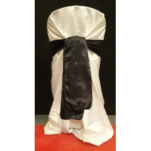 Chair Cover Sash, Satin Black