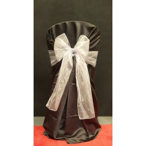Chair Cover Sash, Organza White