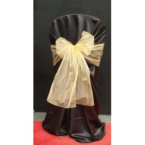 Chair Cover Sash, Organza Gold (light gold)