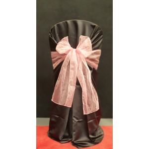 Chair Cover Sash, Organza Pink