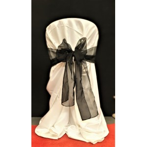 Chair Cover Sash, Organza Black