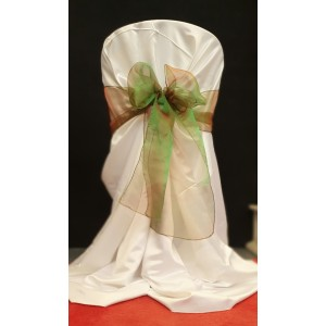Chair Cover Sash, Organza Jade Green