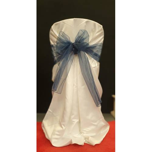 Chair Cover Sash, Organza Navy
