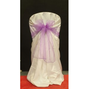 Chair Cover Sash, Organza Purple