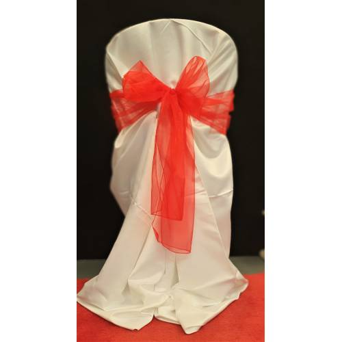 Chair Cover Sash, Organza Red