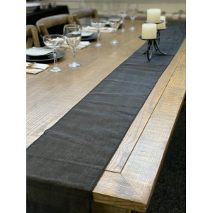 Table Runner, Organza 3m Black