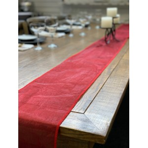 Table Runner, Organza 3m Burgundy (dark red)