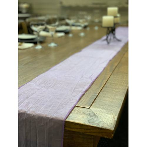 Table Runner, Organza 3m Lavender