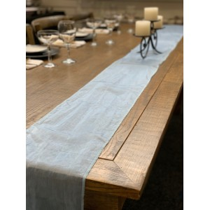 Table Runner, Organza 3m Light Blue