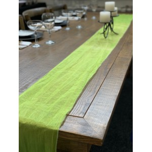 Table Runner, Organza 3m Lime Green