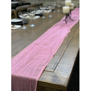 Table Runner, Organza 3m Lolly Pink