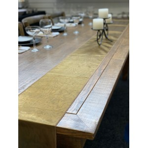 Table Runner, Organza 3m Olive Gold