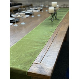 Table Runner, Organza 3m Olive Green
