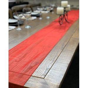 Table Runner, Organza 3m Red