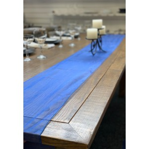 Table Runner, Organza 3m Royal Blue
