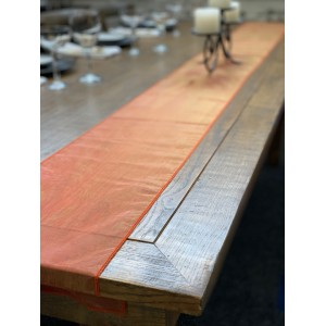 Table Runner, Organza 3m Rustic Orange