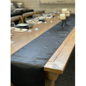 Table Runner, Satin 2.6m, Black