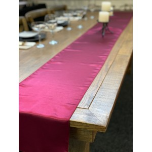 Table Runner, Satin 2.6m, Burgundy