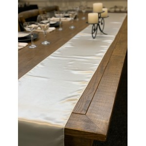 Table Runner, Satin 2.6m, Ivory