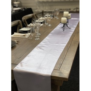 Table Runner, Satin 2.6m, Lavender