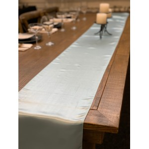 Table Runner, Satin 2.6m, Light Blue