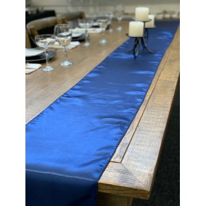 Table Runner, Satin 2.6m, Navy Blue
