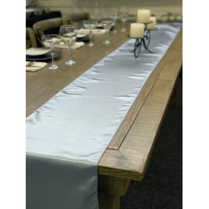 Table Runner, Satin 2.6m, Periwinkle