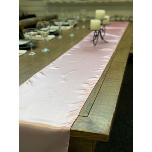 Table Runner, Satin 2.6m, Pink